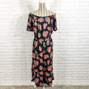 Love by Chelsey Multicolored Floral Jumpsuit